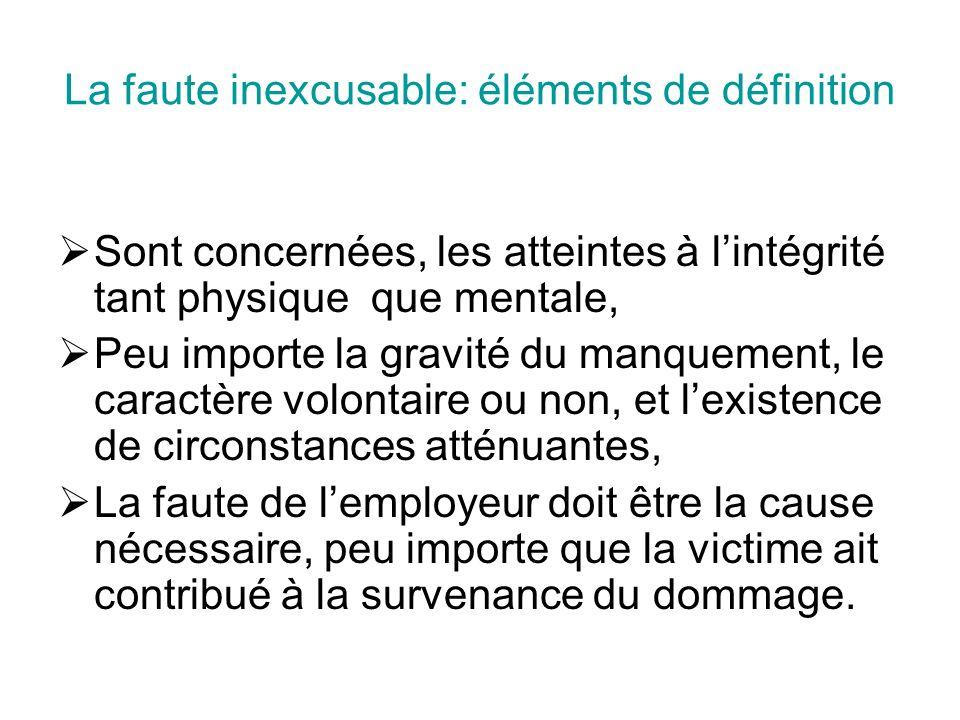 La faute inexcusable: éléments de définition