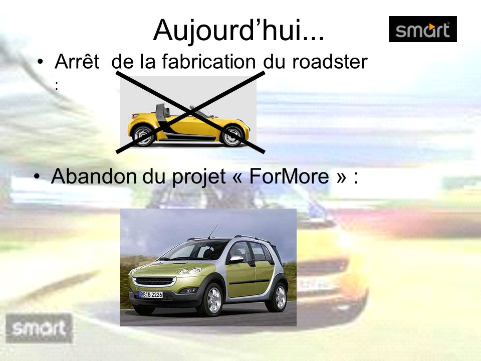 Aujourd'hui... Abandon du projet « ForMore » :
