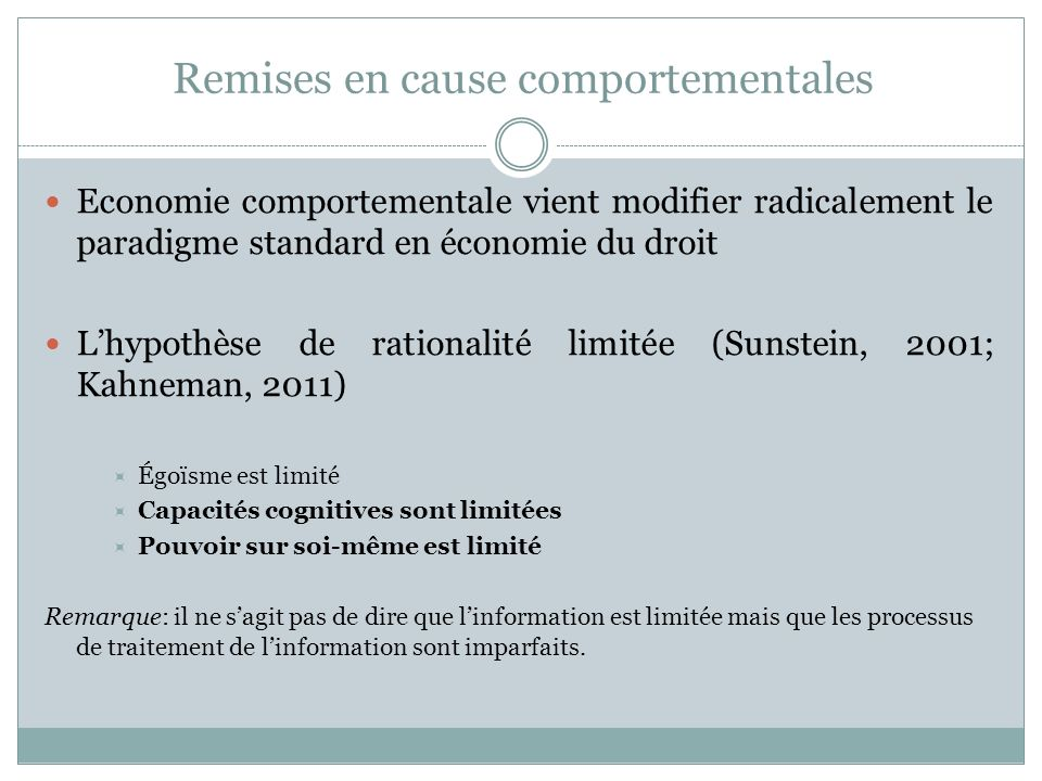 Remises en cause comportementales