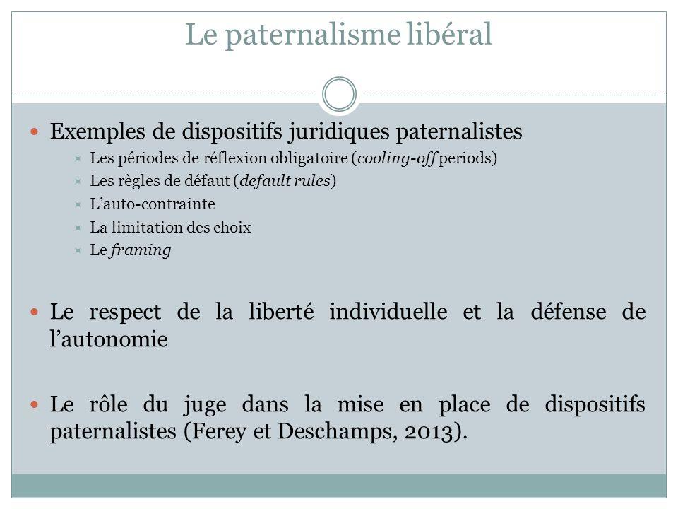 Le paternalisme libéral