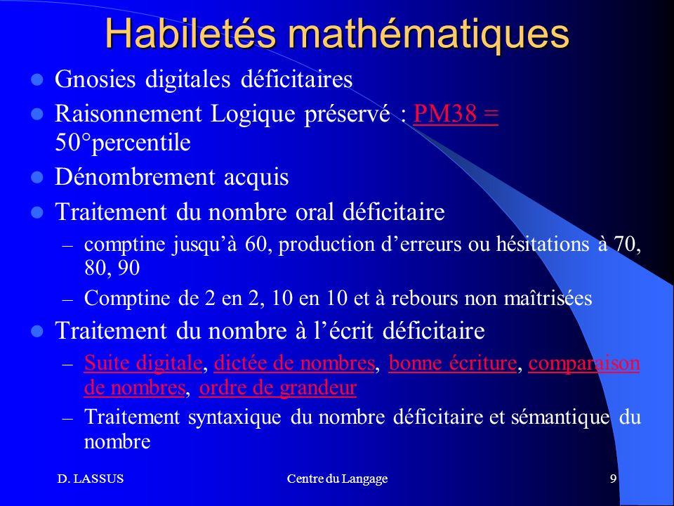 Habiletés mathématiques
