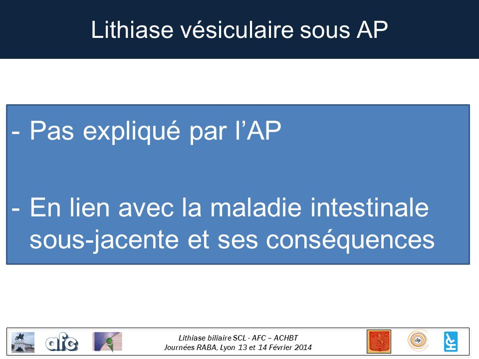 Lithiase vésiculaire sous AP