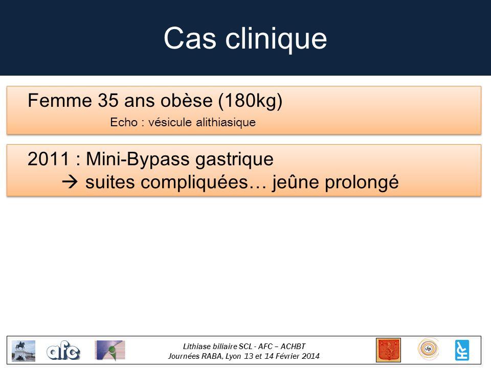 Cas clinique Femme 35 ans obèse (180kg) 2011 : Mini-Bypass gastrique