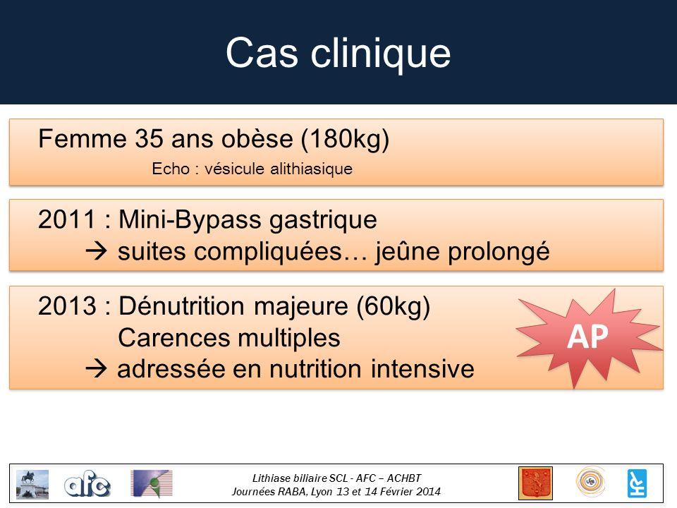 Cas clinique AP Femme 35 ans obèse (180kg)