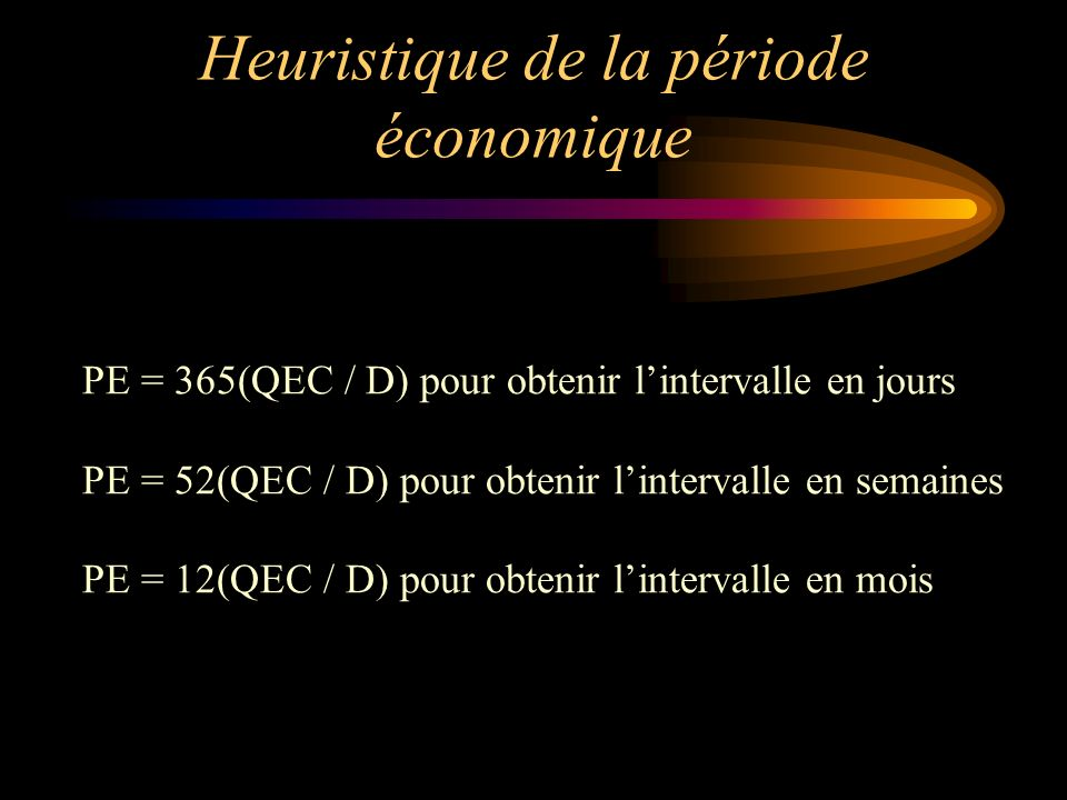 Heuristique de la période économique