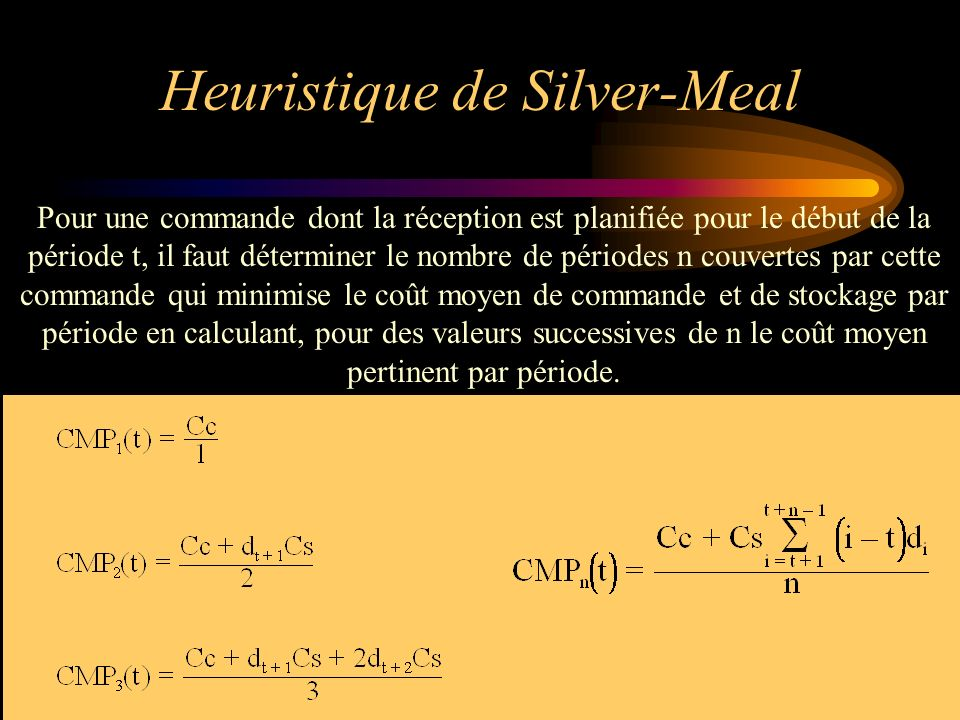 Heuristique de Silver-Meal