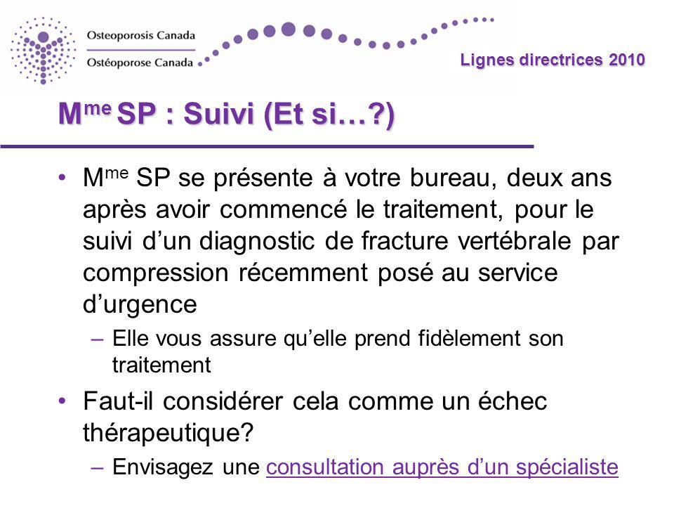 Mme SP : Suivi (Et si… )