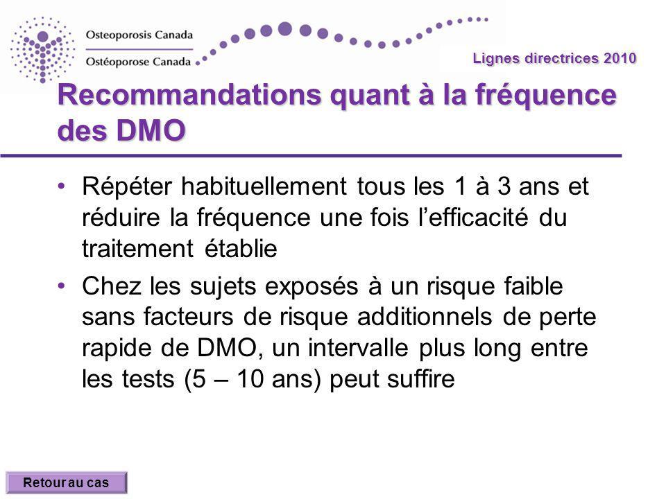Recommandations quant à la fréquence des DMO