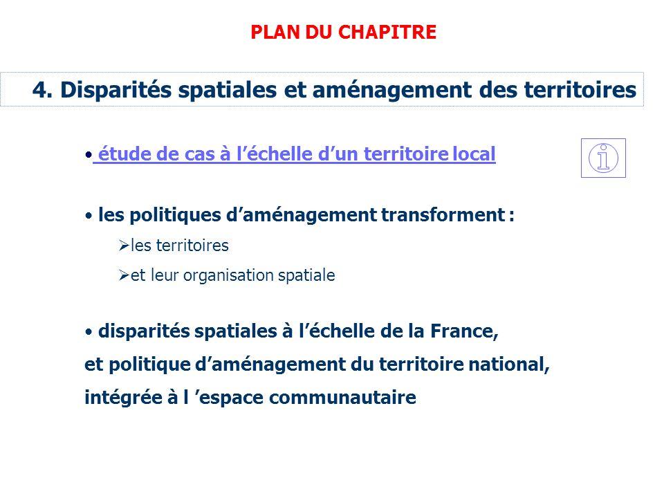 4. Disparités spatiales et aménagement des territoires