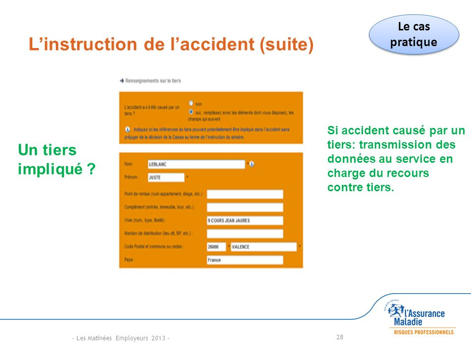 L'instruction de l'accident (suite)