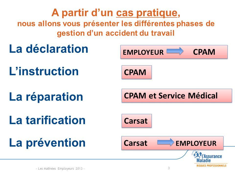 A partir d'un cas pratique, nous allons vous présenter les différentes phases de gestion d'un accident du travail