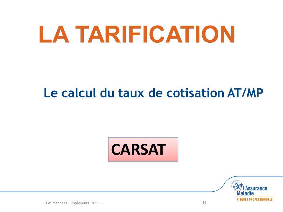 Le calcul du taux de cotisation AT/MP