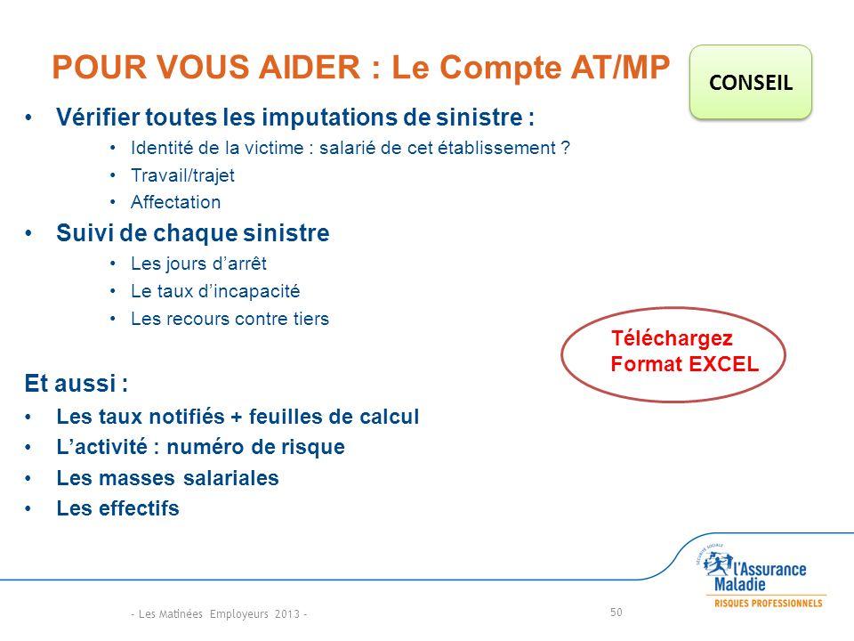 POUR VOUS AIDER : Le Compte AT/MP