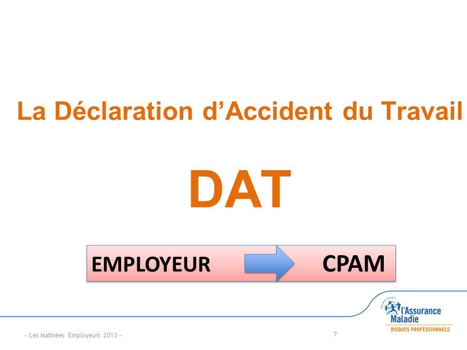 La Déclaration d'Accident du Travail DAT