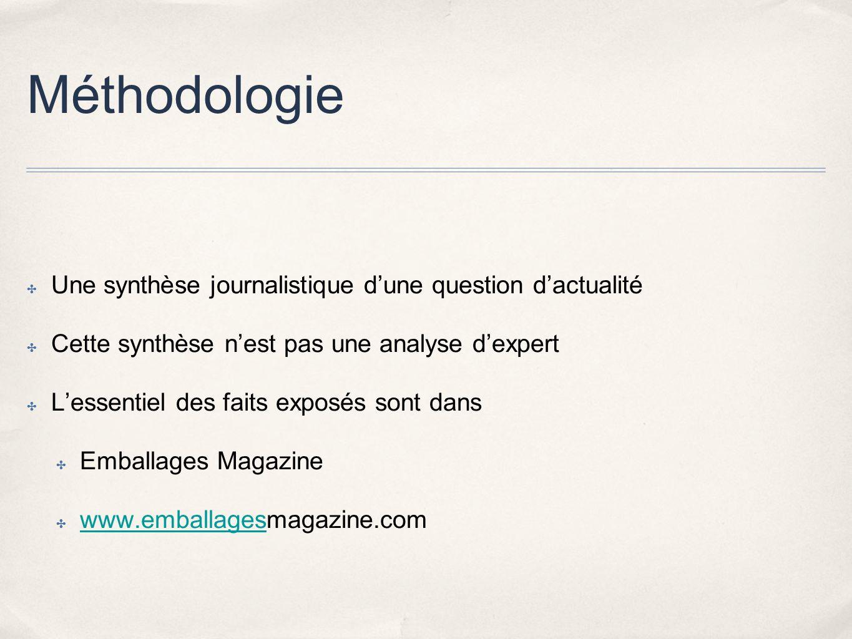 Méthodologie Une synthèse journalistique d'une question d'actualité