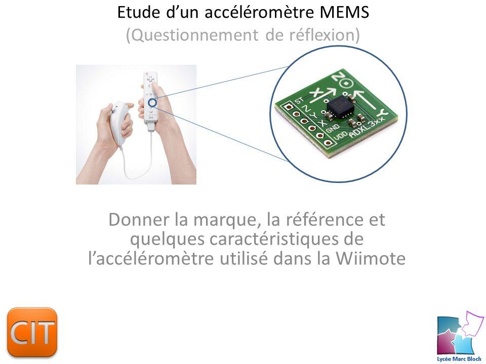 Etude d'un accéléromètre MEMS (Questionnement de réflexion)