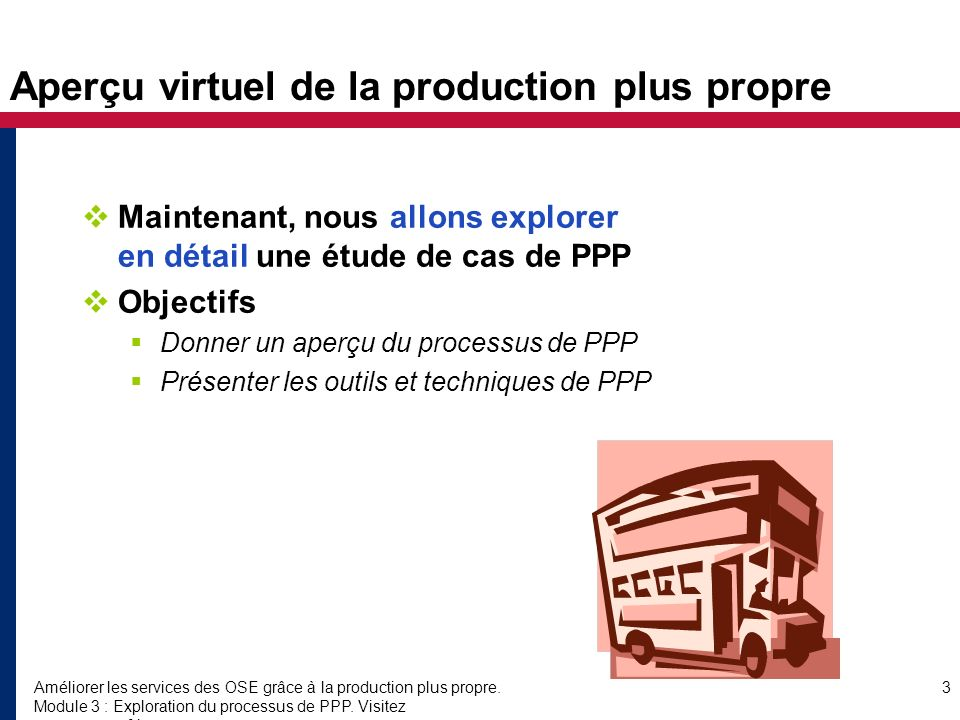 Aperçu virtuel de la production plus propre
