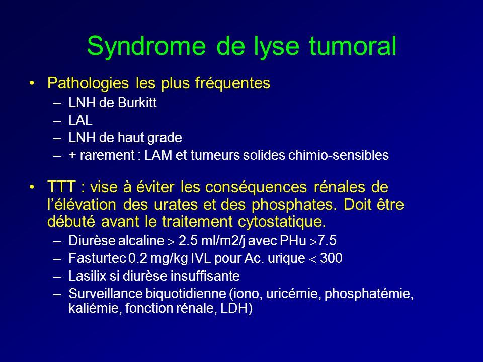 Syndrome de lyse tumoral