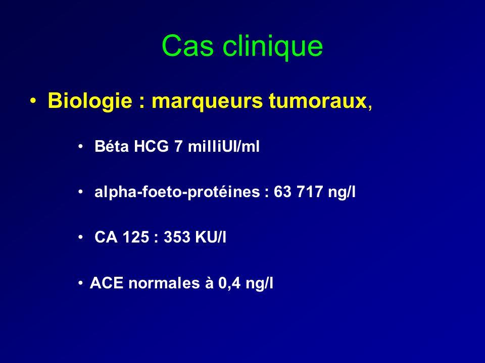 Cas clinique Biologie : marqueurs tumoraux, Béta HCG 7 milliUI/ml