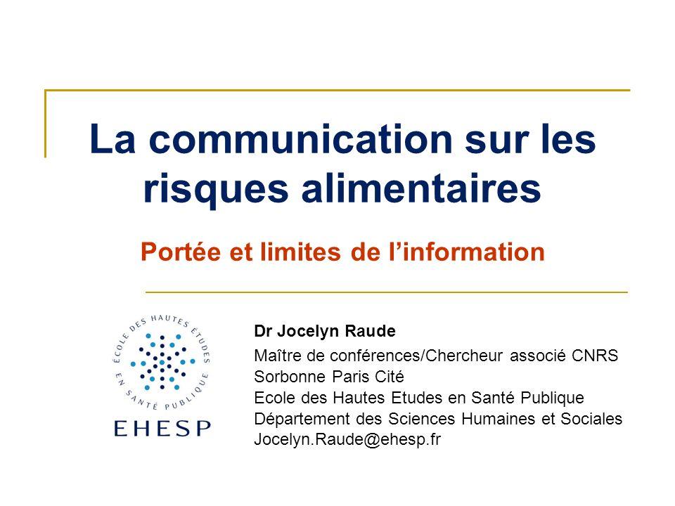 La communication sur les risques alimentaires