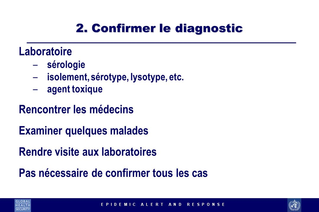 2. Confirmer le diagnostic