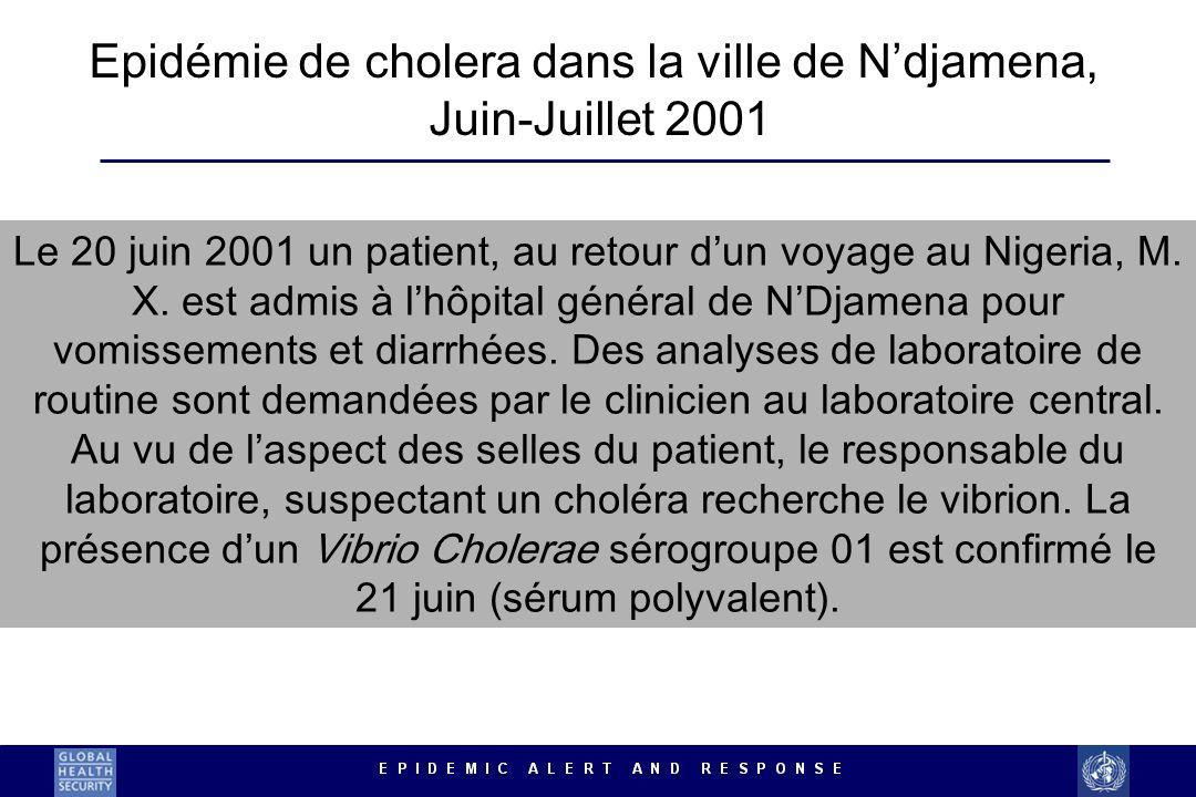 Epidémie de cholera dans la ville de N'djamena,