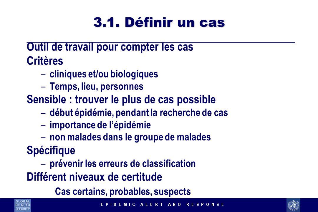3.1. Définir un cas Outil de travail pour compter les cas Critères