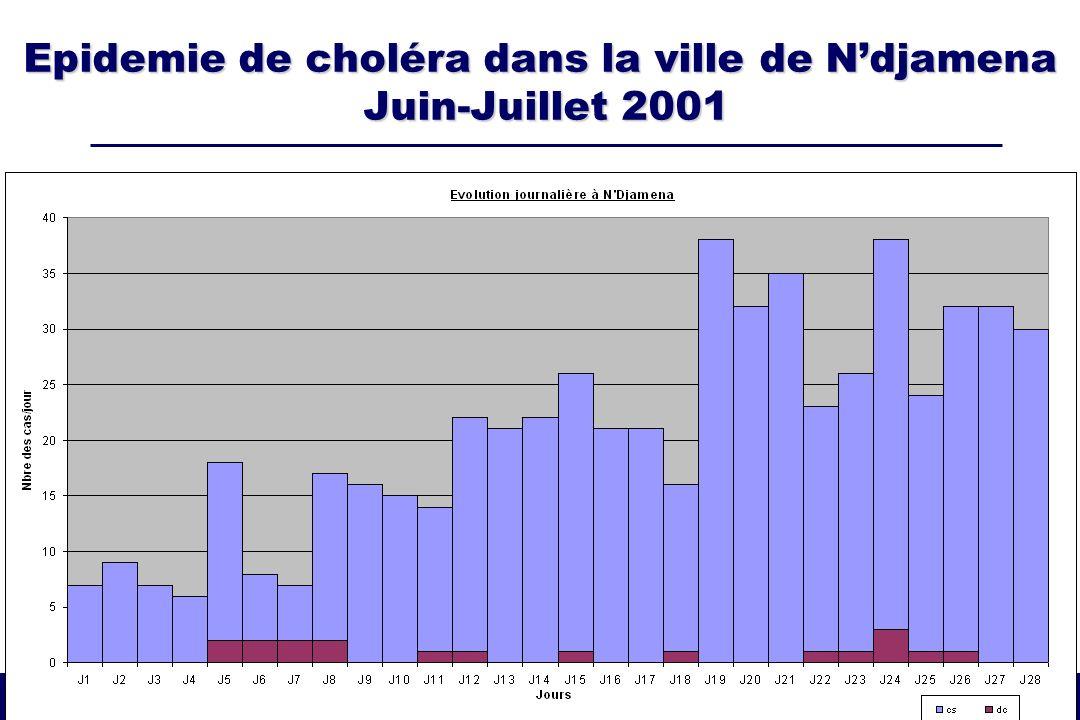 Epidemie de choléra dans la ville de N'djamena Juin-Juillet 2001