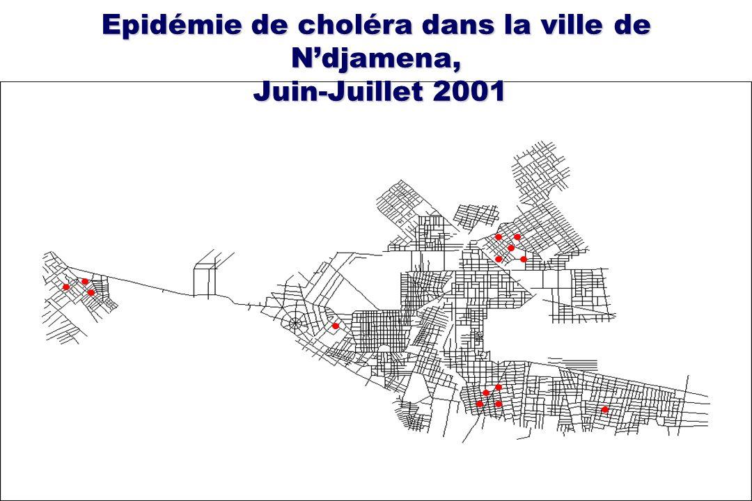 Epidémie de choléra dans la ville de N'djamena, Juin-Juillet 2001
