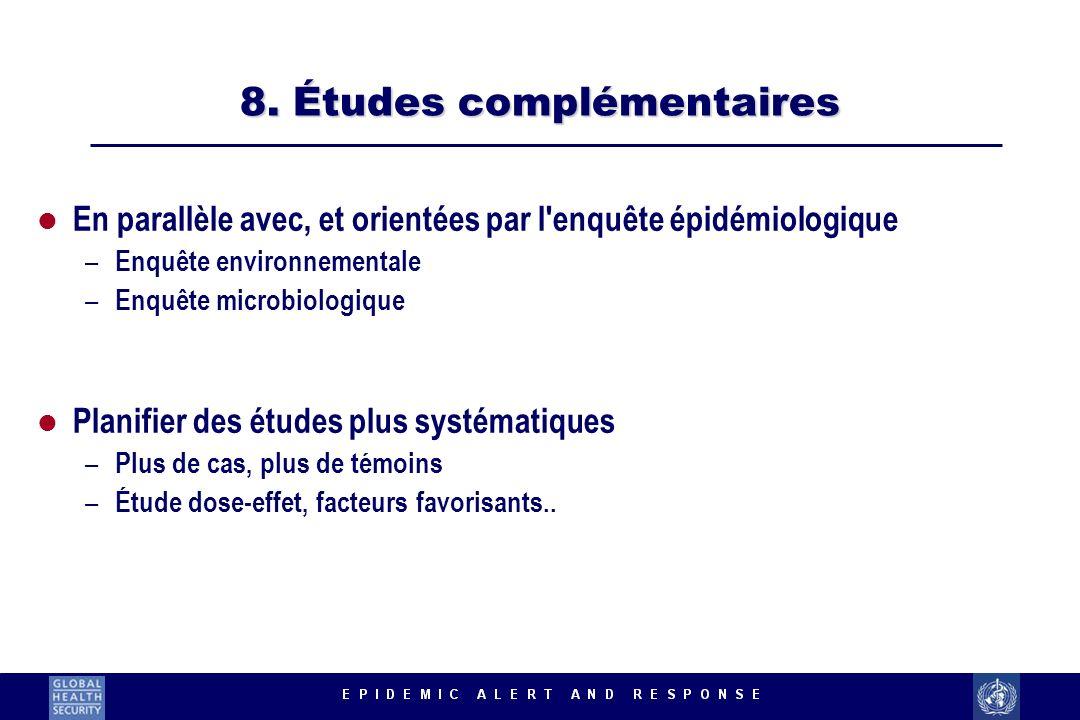 8. Études complémentaires