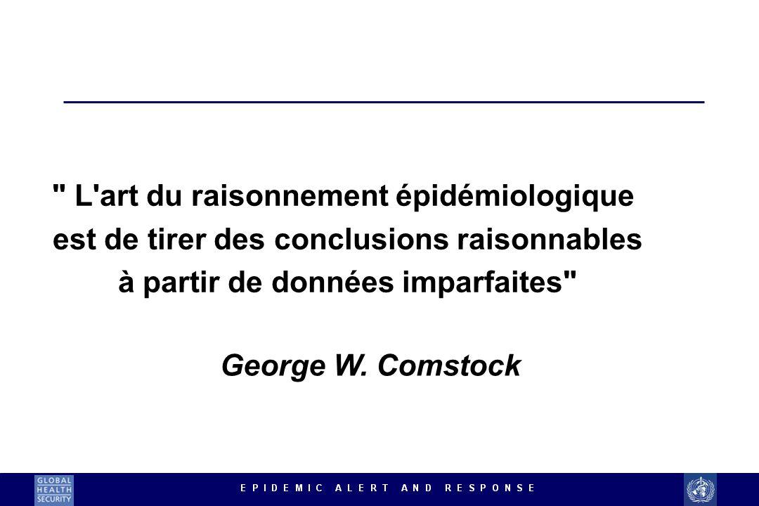 L art du raisonnement épidémiologique