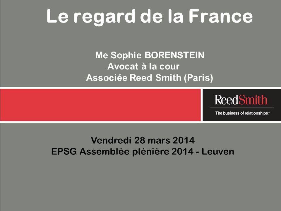 Vendredi 28 mars 2014 EPSG Assemblée plénière 2014 - Leuven