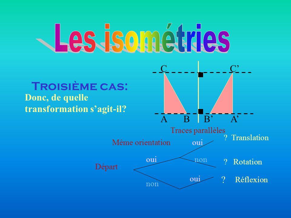 Les isométries Troisième cas: A B C C' B' A'