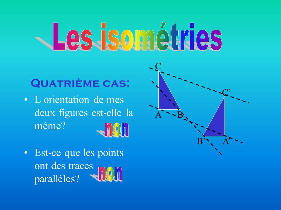 Les isométries non non Quatrième cas: