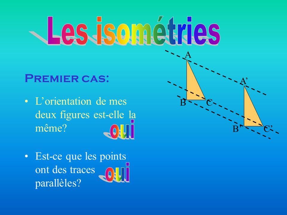 Les isométries oui oui Premier cas: