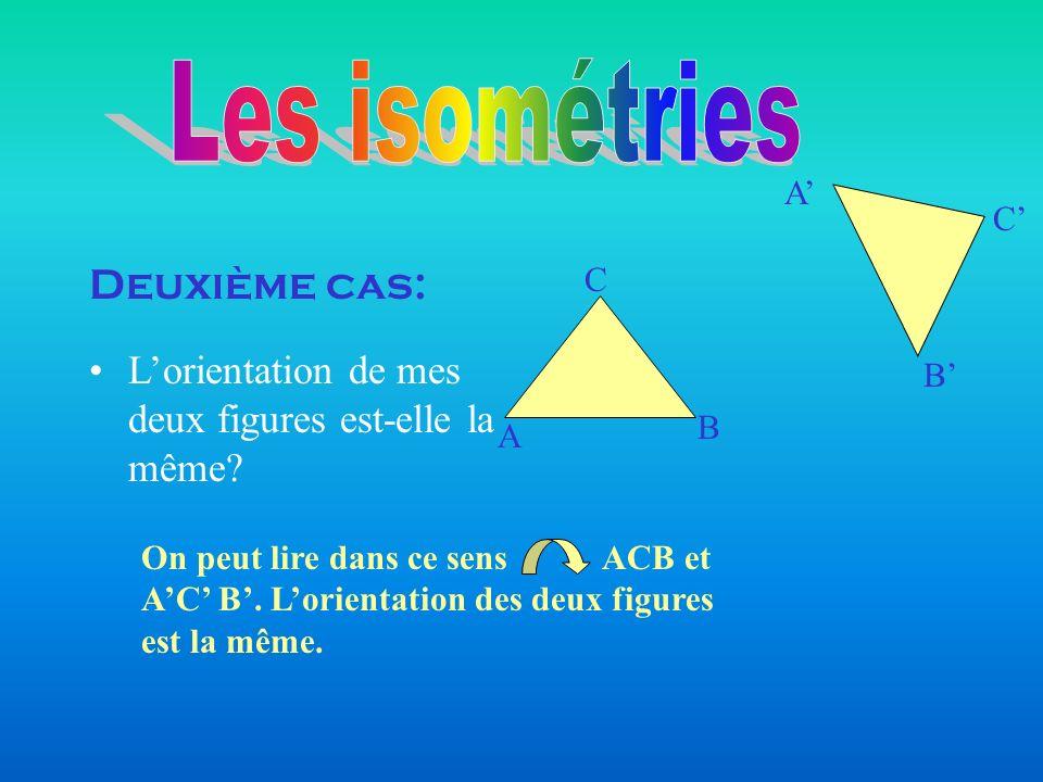 Les isométries Deuxième cas: