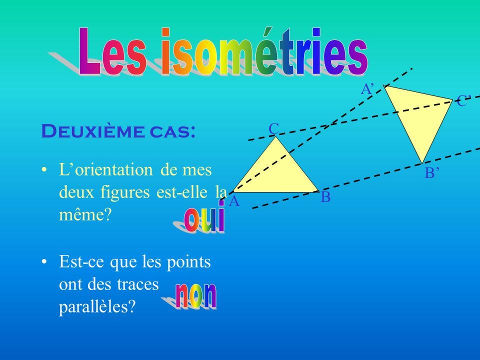 Les isométries oui non Deuxième cas: