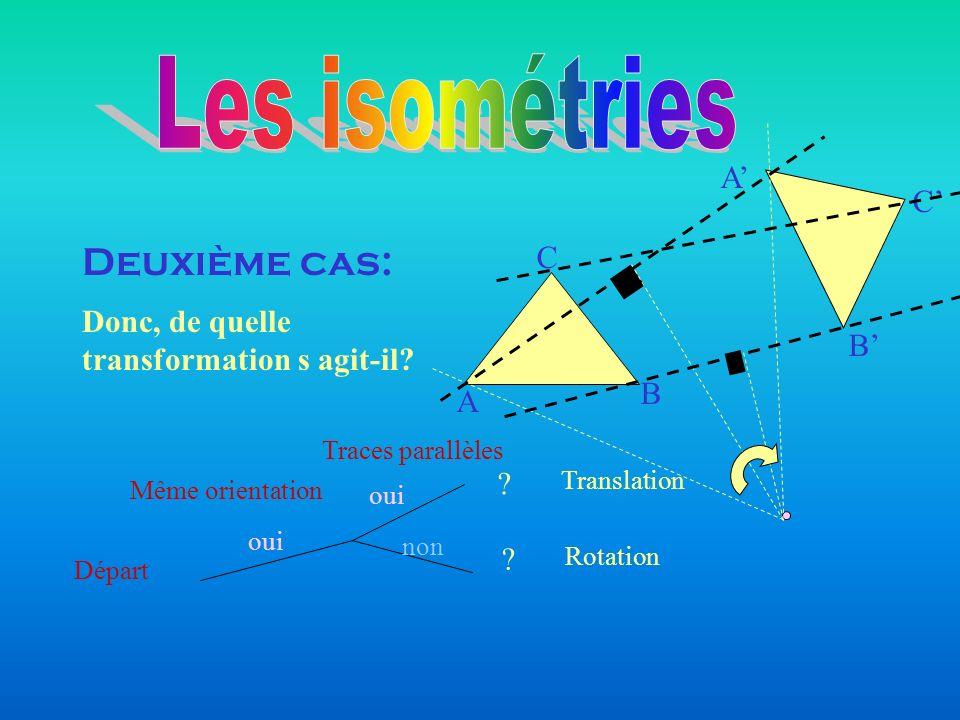 Les isométries Deuxième cas: A' C' C