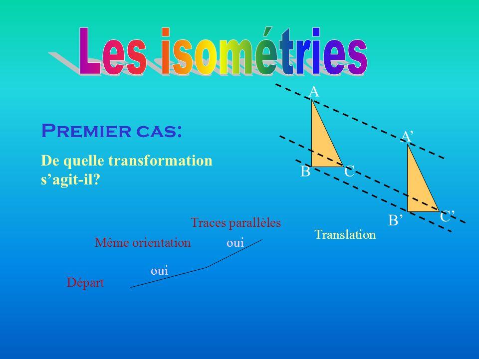 Les isométries Premier cas: B C A A' C' B'