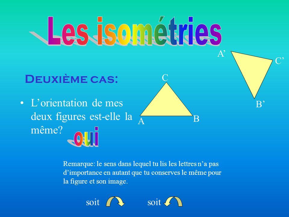 Les isométries oui Deuxième cas: