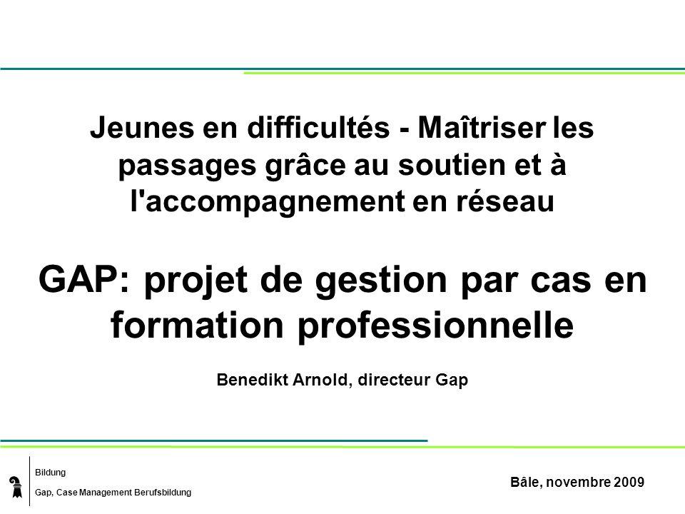GAP: projet de gestion par cas en formation professionnelle
