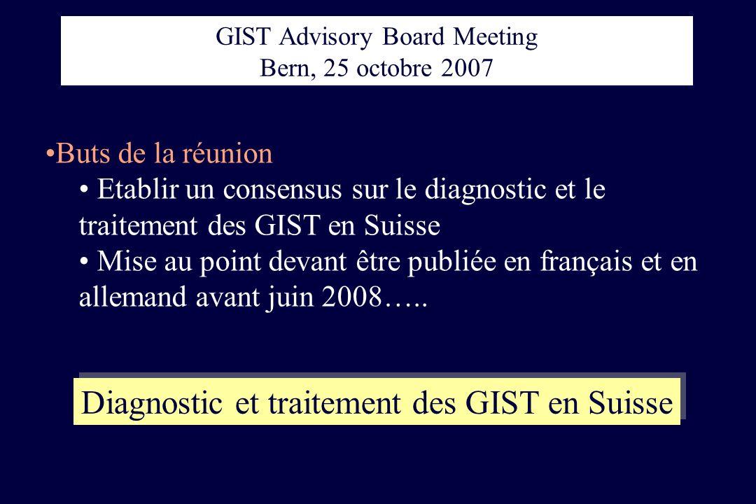 Diagnostic et traitement des GIST en Suisse