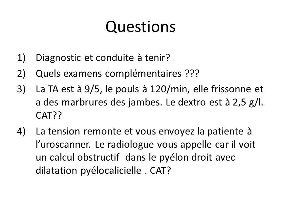 Questions Diagnostic et conduite à tenir
