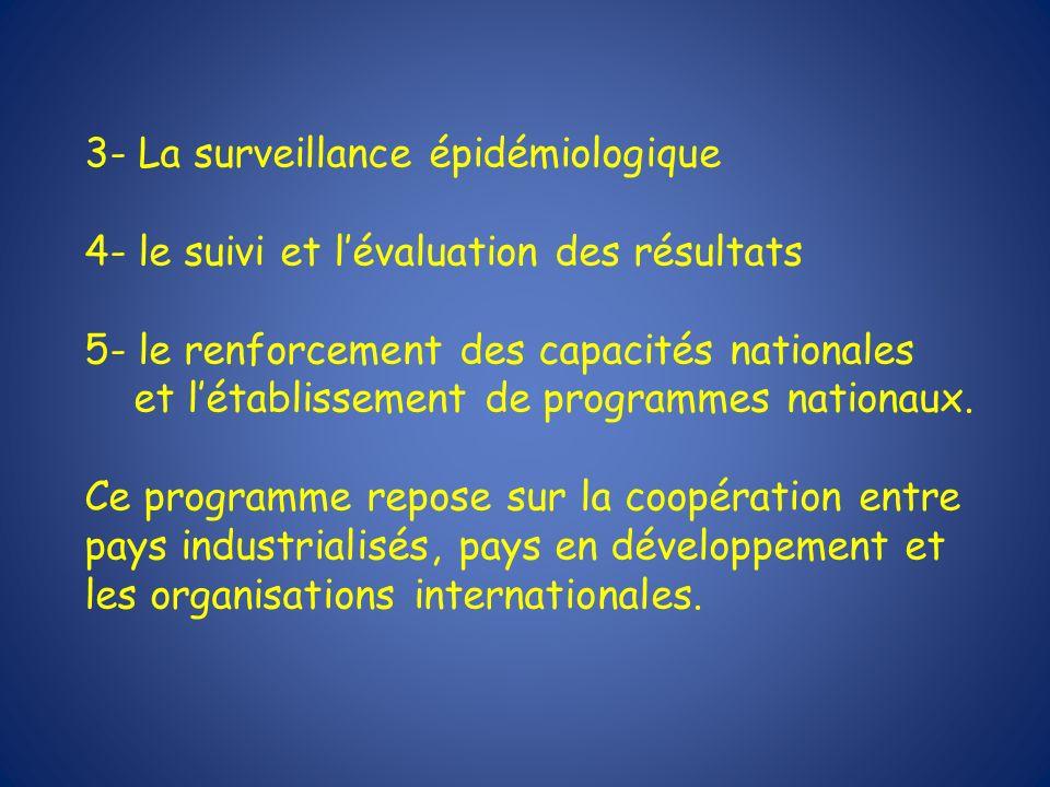 3- La surveillance épidémiologique