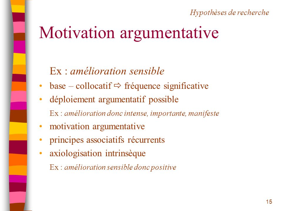 Motivation argumentative
