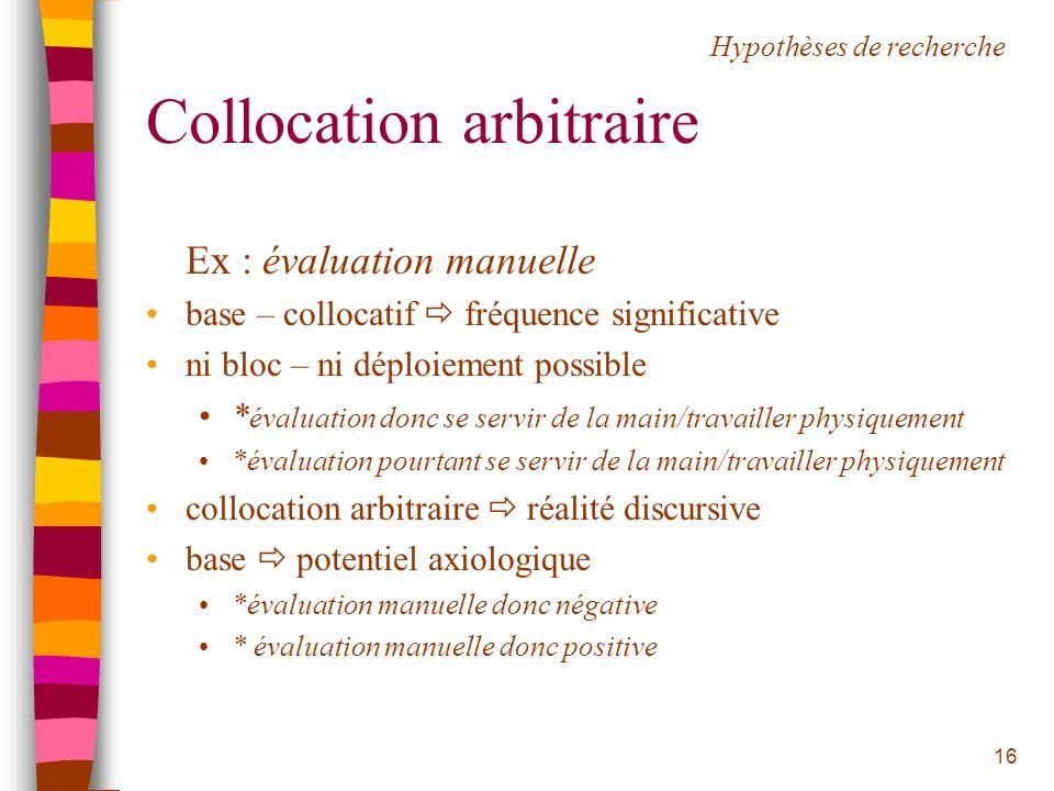 Collocation arbitraire