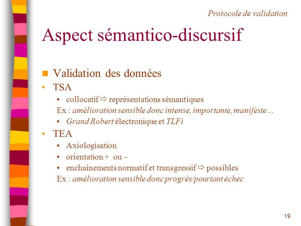 Aspect sémantico-discursif