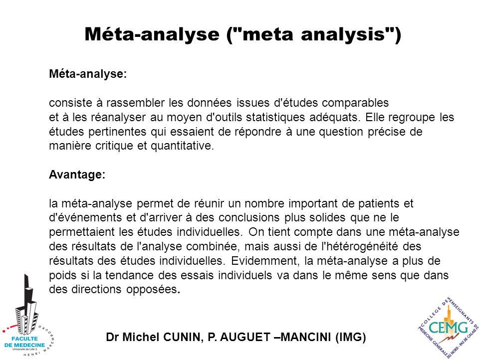 Méta-analyse ( meta analysis )