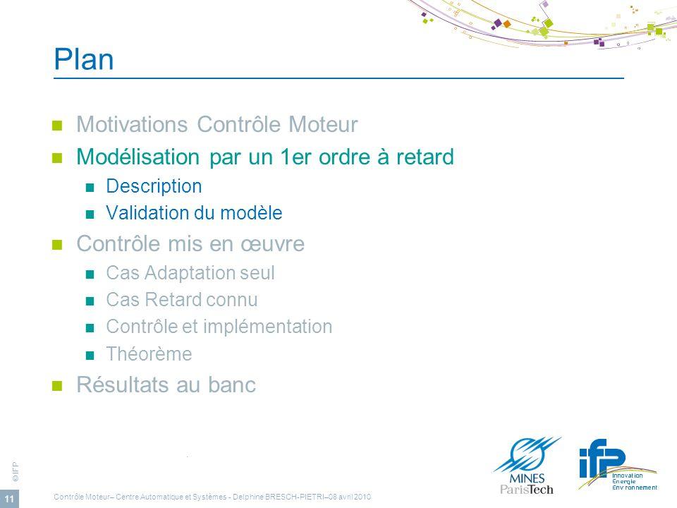 Plan Motivations Contrôle Moteur