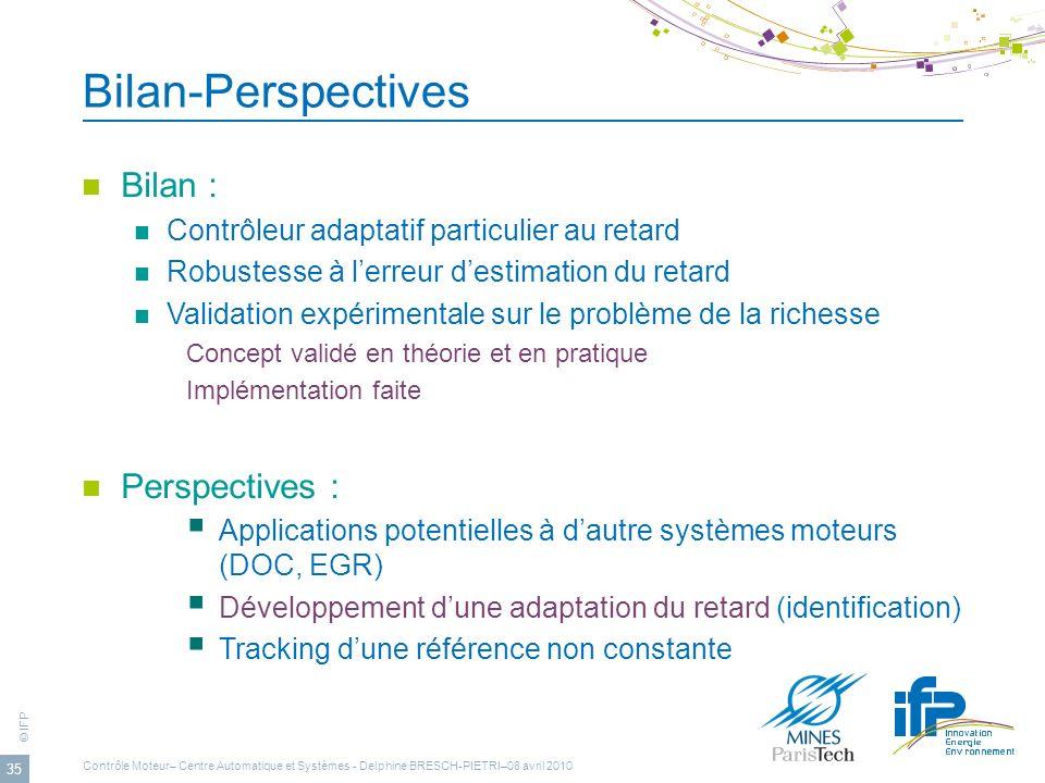 Bilan-Perspectives Bilan : Perspectives :